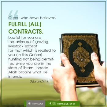 O you who have believed, fulfill [all] contracts